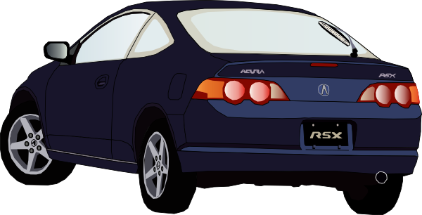 Car from the rear clipart.