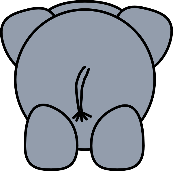Elephant Rear Clip Art at Clker.com.