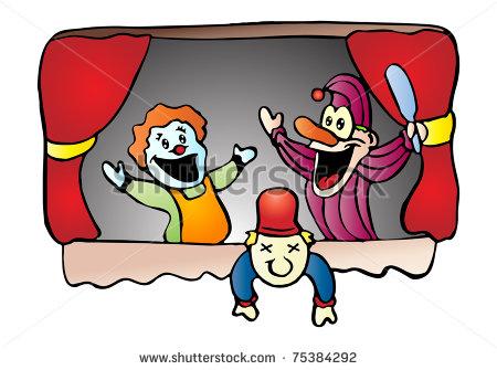 Cute Puppet Show Clipart.