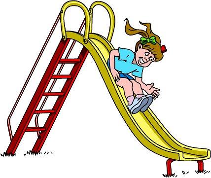 Slide Girl Clipart.