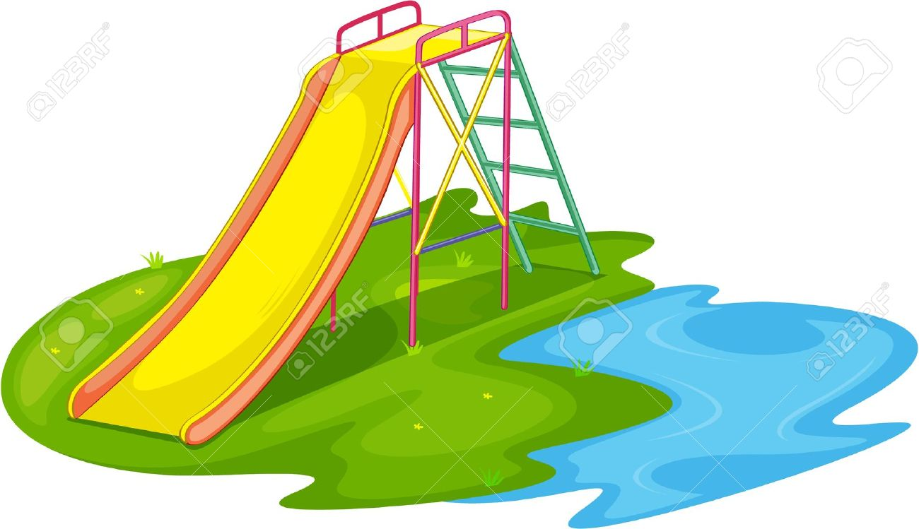 Playground slides clip art.