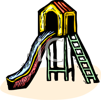 Royalty Free Clipart Image: Slide in a Playground.