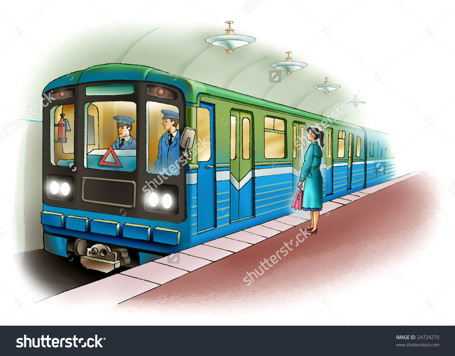 Underground train clipart.