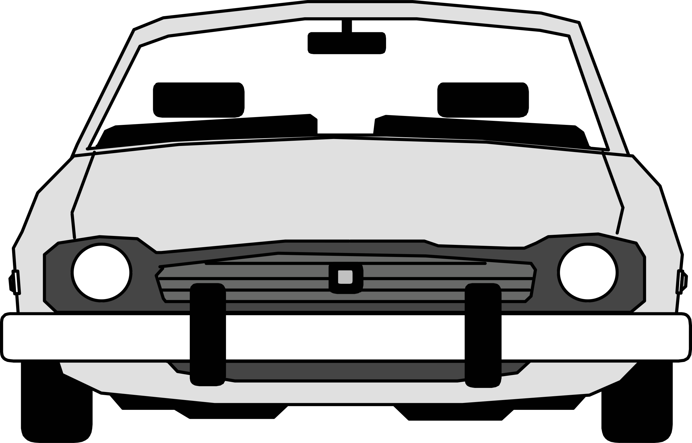 Rear Facing Car Clipart.