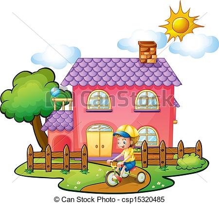 Clipart yard front.