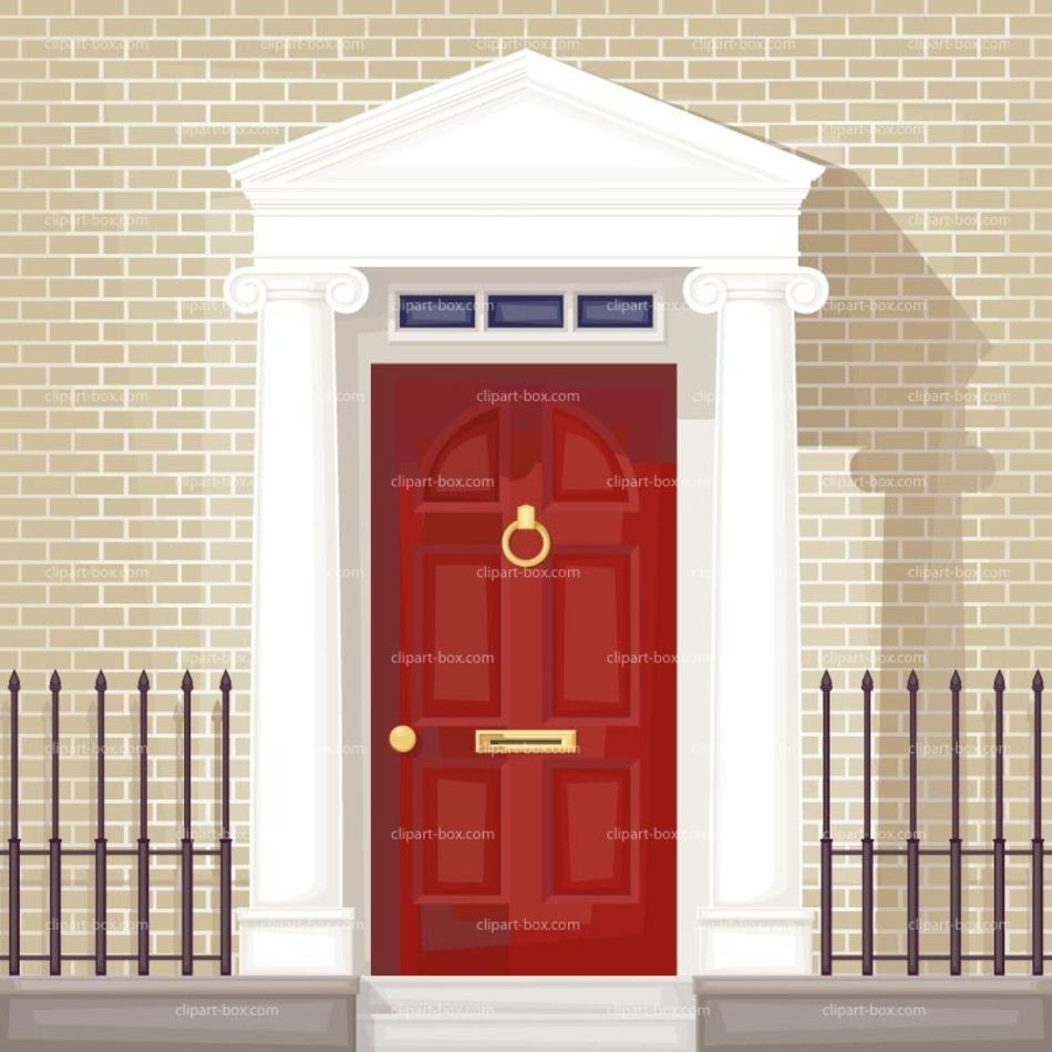 Luxury classic Front Door, drawing free image.