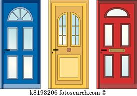 Front door Clip Art Vector Graphics. 7,110 front door EPS clipart.