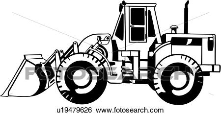 , front end loader, construction, heavy equipment, trade, Clip Art.