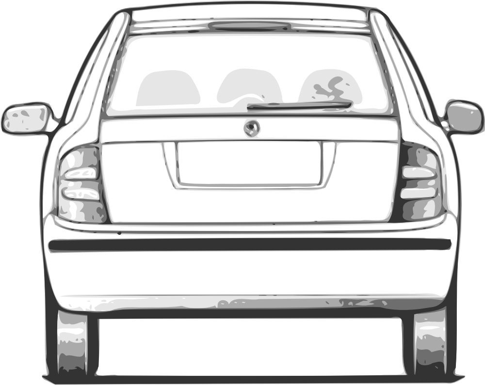Front facing car clipart.