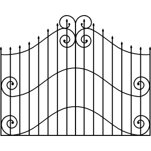 Zoo gate clipart black and white.