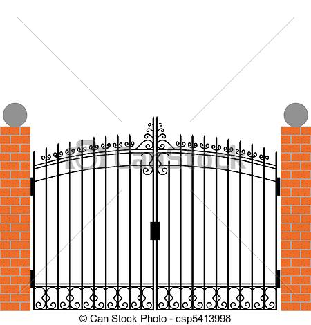 School Gate Clipart.
