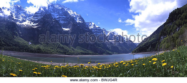 Lake Klontal Switzerland Stock Photos & Lake Klontal Switzerland.