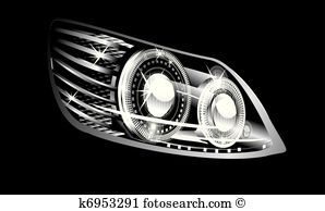 Front headlight clipart #19
