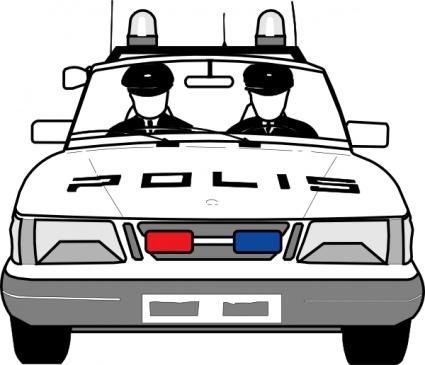 Cartoon Police Car.