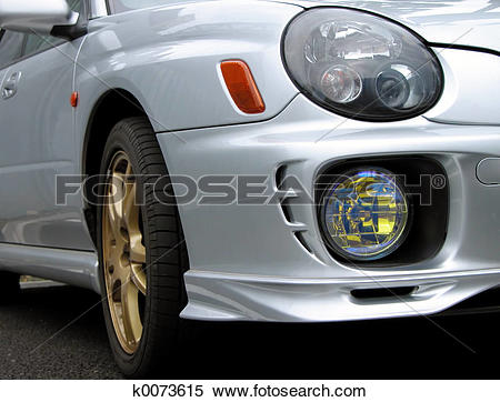 Stock Image of Car Front.