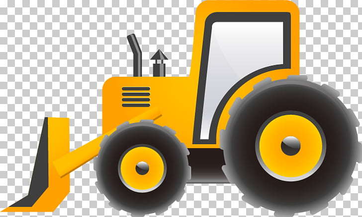 Cartoon Excavator Heavy equipment, Truck pull material Free.