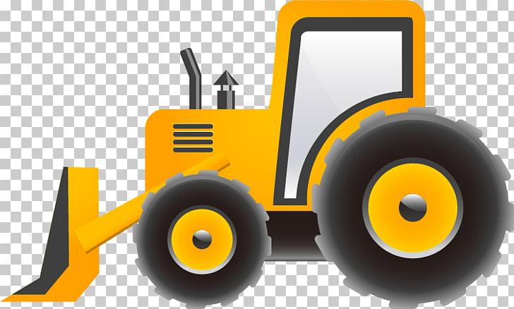 Cartoon Excavator Heavy equipment, Truck pull material Free.