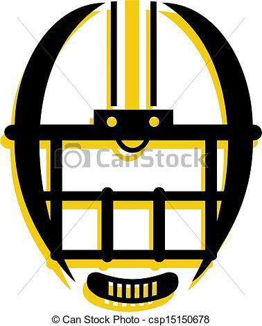 Football face mask clipart.