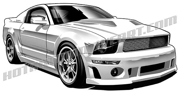 2006 Ford Mustang GT clipart, buy two images, get one image free.