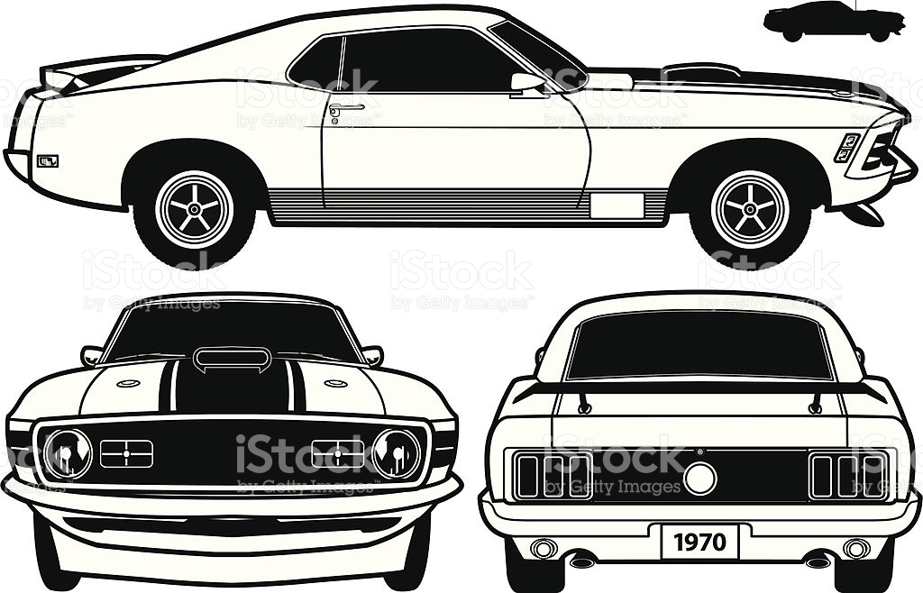 Ford Mustang Black Clipart.