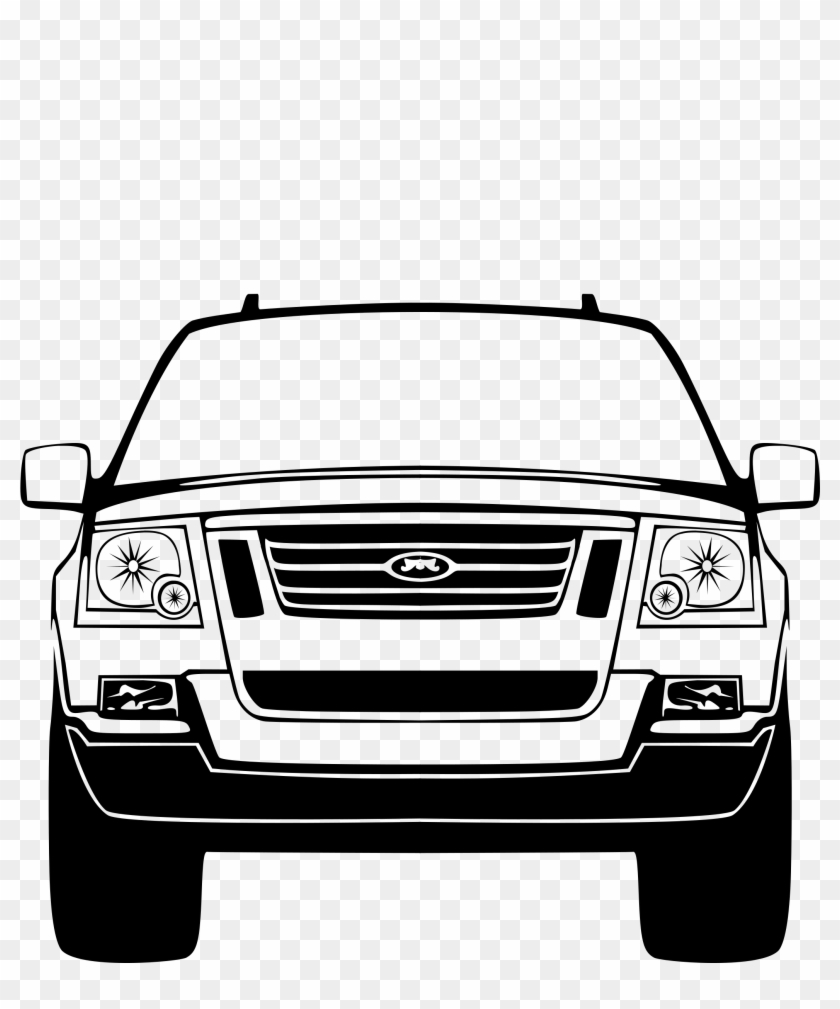 Car Front Silhouette Png, Transparent Png.