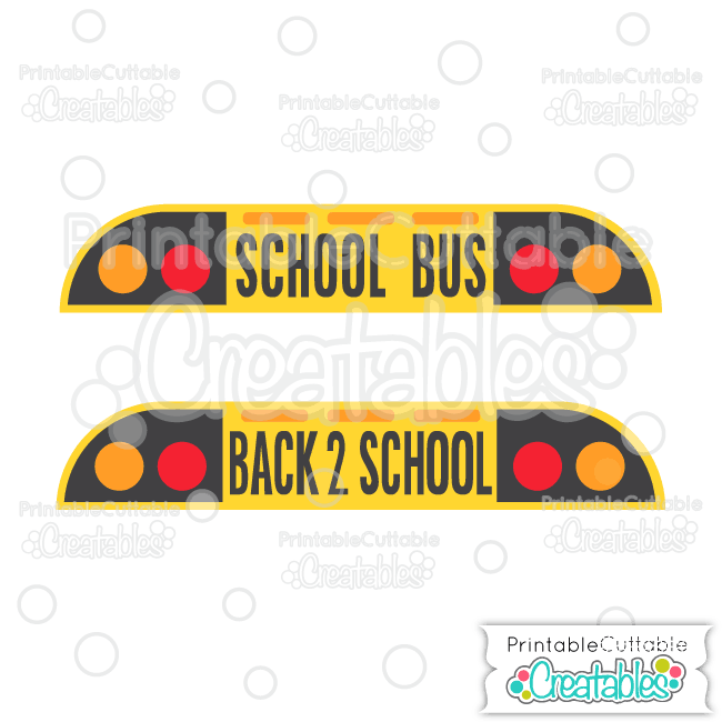 Front of School Bus Title SVG Cutting File & Clipart for.