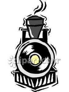 The Front of a Black Train.