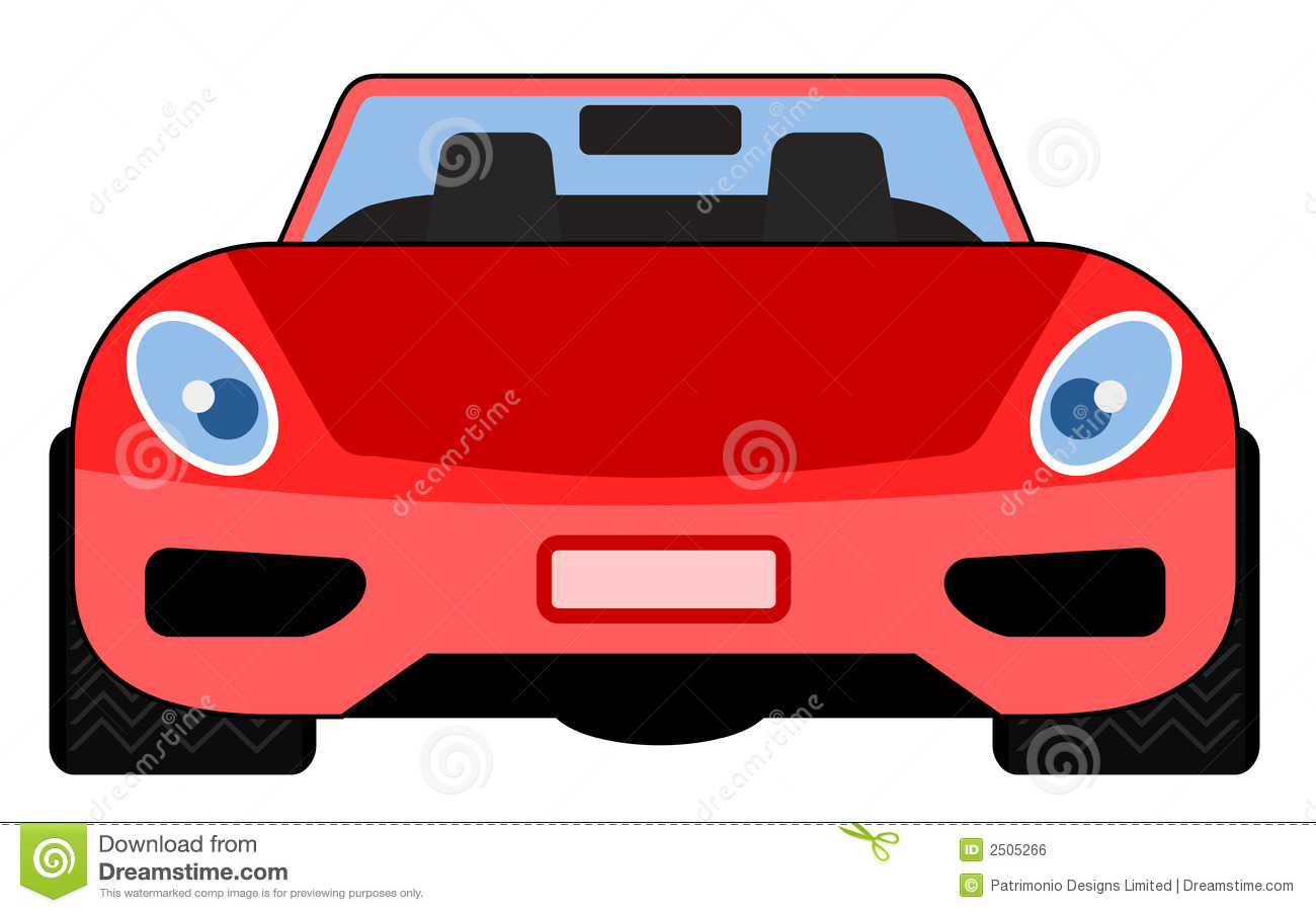 Front side of porsche car clipart.