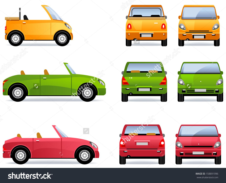 Showing post & media for Cartoon car back side.