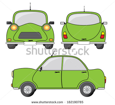 Showing post & media for Cartoon car front side.