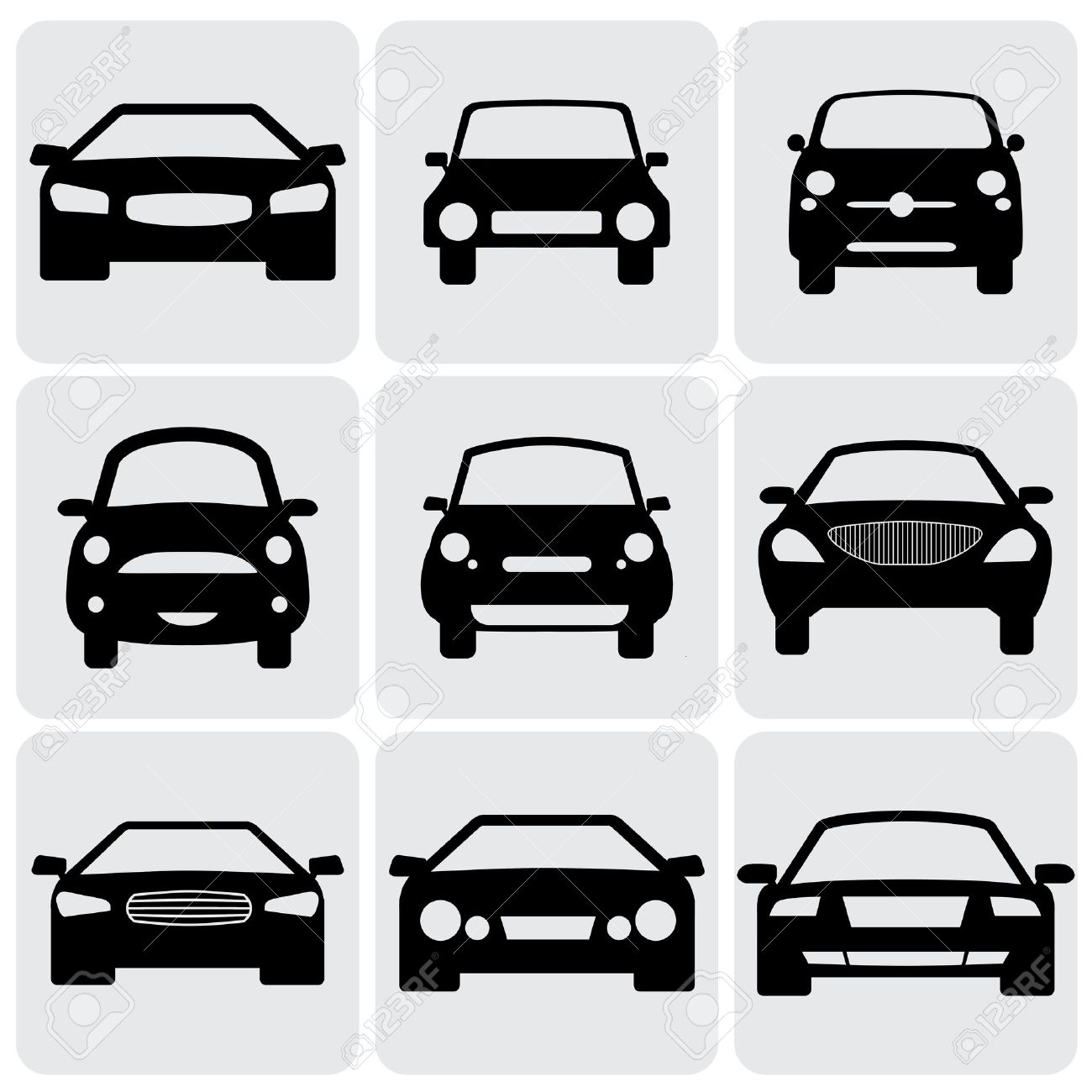 front side of car clipart #6
