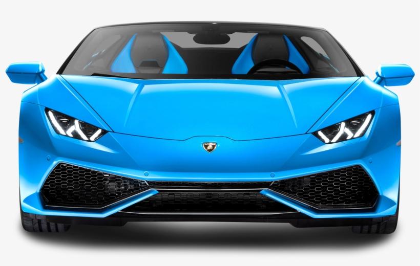 Blue Lamborghini Huracan Lp 610 4 Spyder Car Png Image.