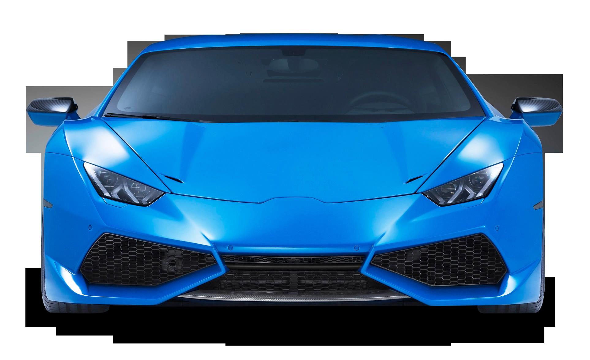 Lamborghini Huracan Front View Car PNG Image.
