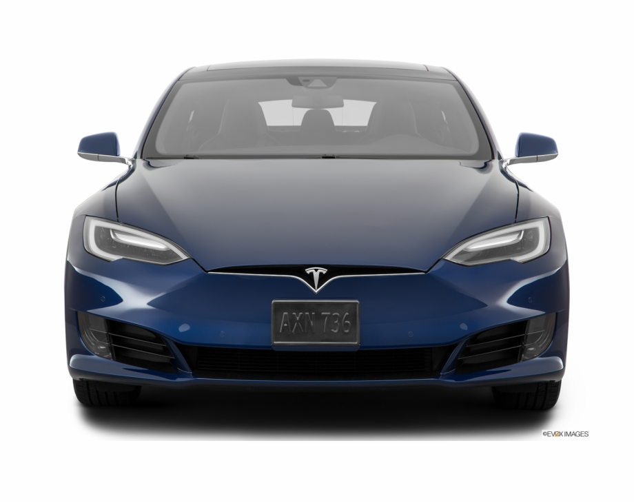 Front View Of The Tesla Model S.
