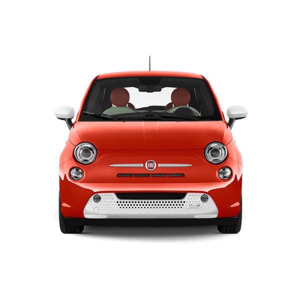 Fiat Front View Red Color car Png.