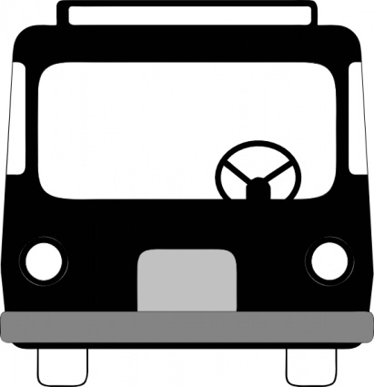 Bus Front View clip art Free Vector.