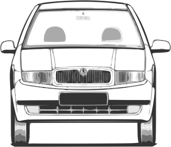 Fabia Front View clip art Free Vector / 4Vector.