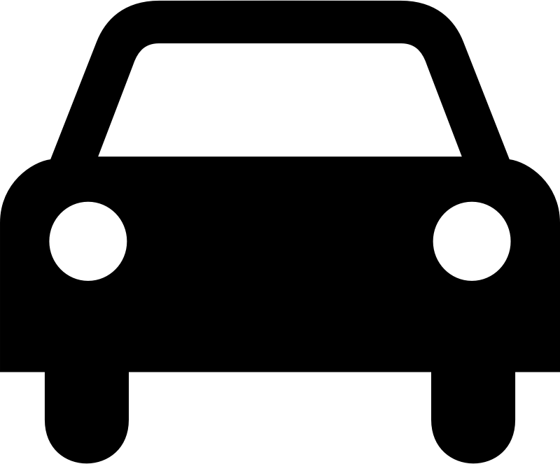 Car Icon By Tagawa Simple Icon Showing The Front View Of A Car.