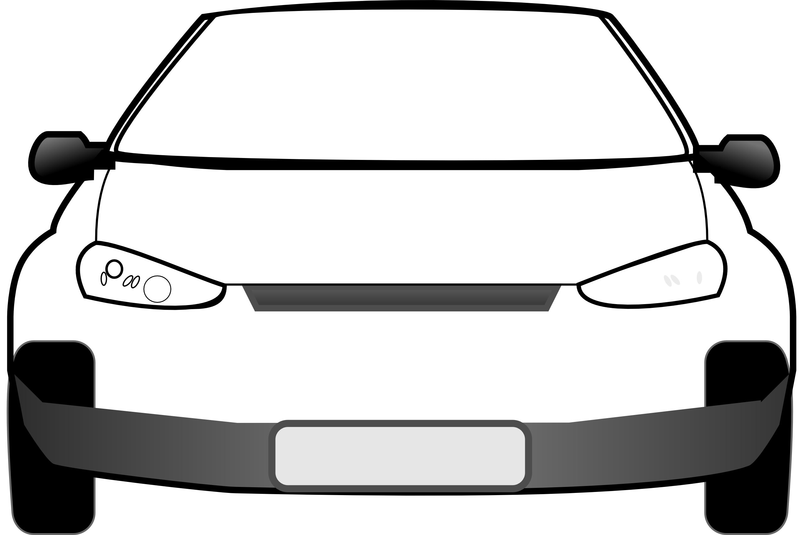 Clipart car from front view.