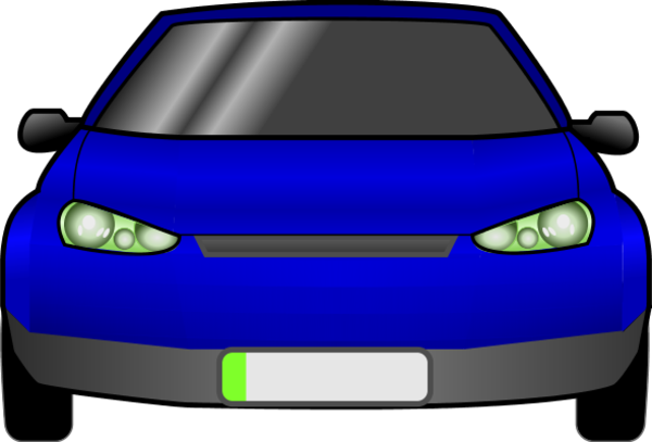 Cartoon Cars Front View.