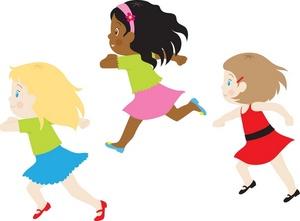 Girl running woman running clipart 2.
