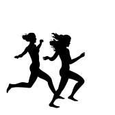 Girl Running Silhouette.