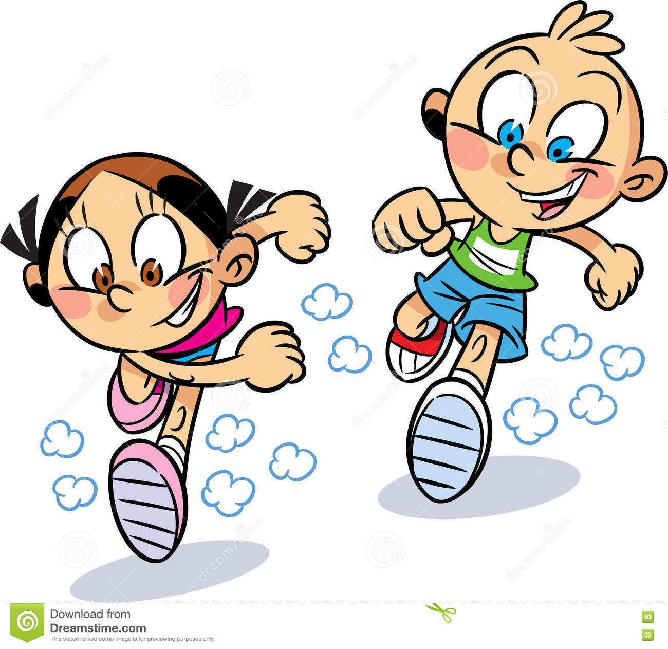 Showing post & media for Cartoon toddler girl running.