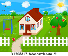 Front yards Stock Illustration Images. 851 front yards.