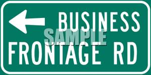 Business_Frontage_Road_Sign_With_Left_Arrow_Royalty_Free_Clipart_Picture_090626.