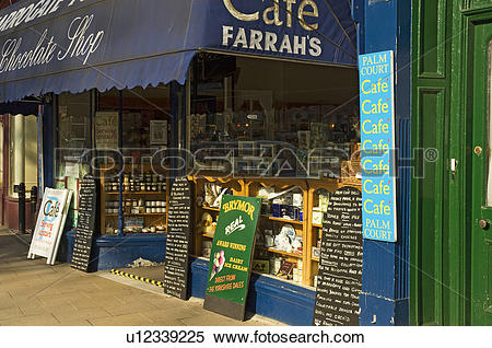Stock Image of England, North Yorkshire, Harrogate, Frontage of.