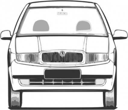 Fabia Front View clip art Free Vector.