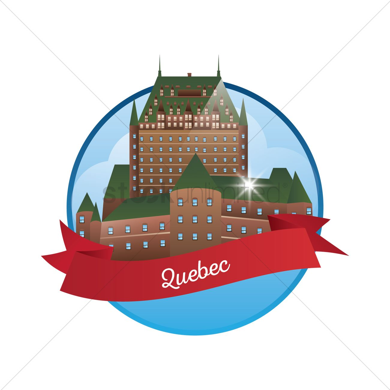 Chateau frontenac Vector Image.