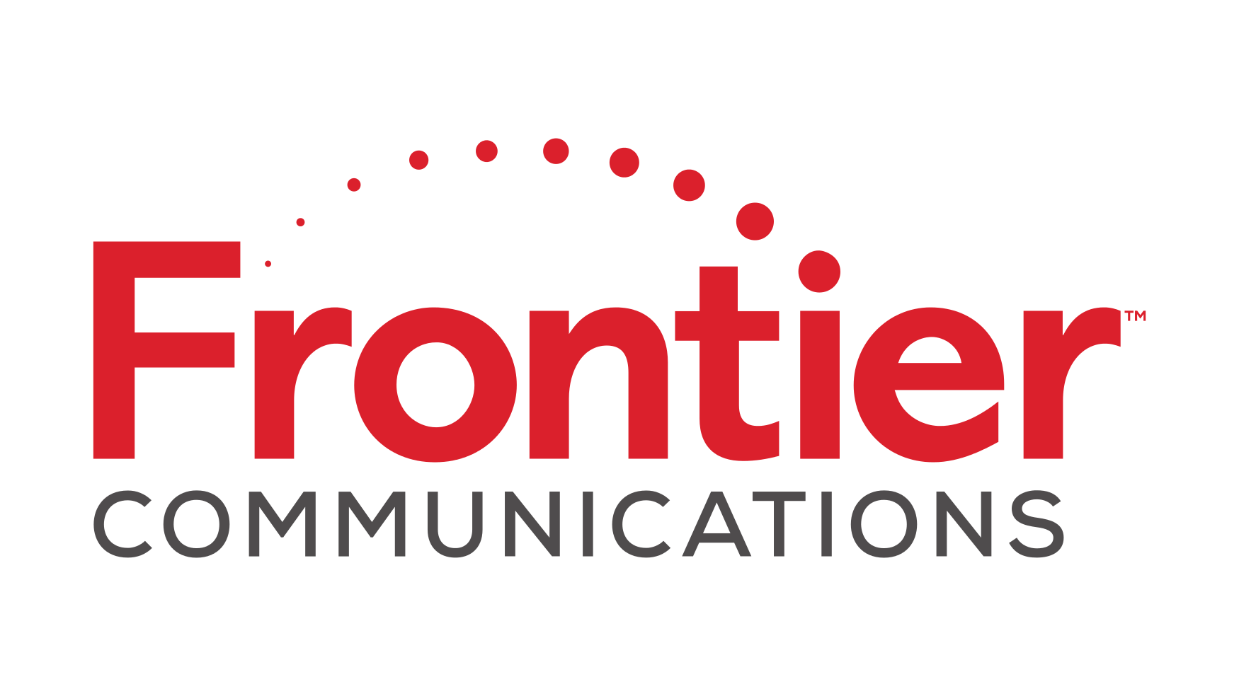 Frontier Communications logo.
