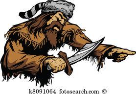 Frontiersman Clipart Illustrations. 9 frontiersman clip art vector.